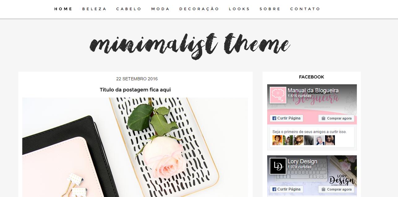 Layout Free Minimalist para Blogger