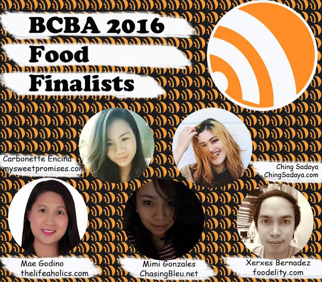 BCBA2016 Finalists of Food Niche