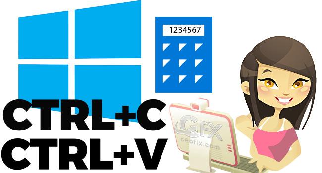 Windows 10 Hesap Makinesinde Kopyala Yapıştır İle Hesapla -www.ceofix.com