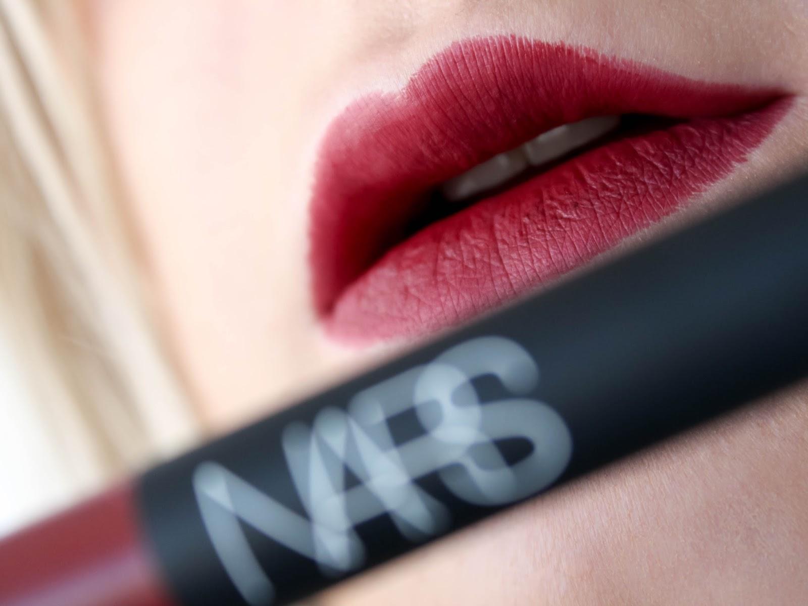 velvet matte lip pencil nars consuming red