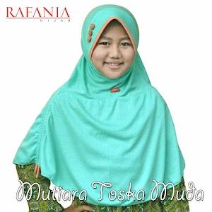 Jilbab Rafania Model Mutiara Warna Toska Muda