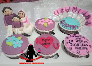 Cupcake Ulang Tahun tema Perkawinan