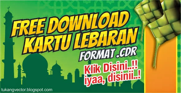 Contoh Unik Template Kartu Ucapan Idul Fitri Psd Ala