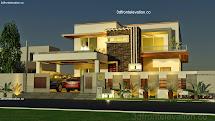 3D House Floor Plan Front Elevation Design