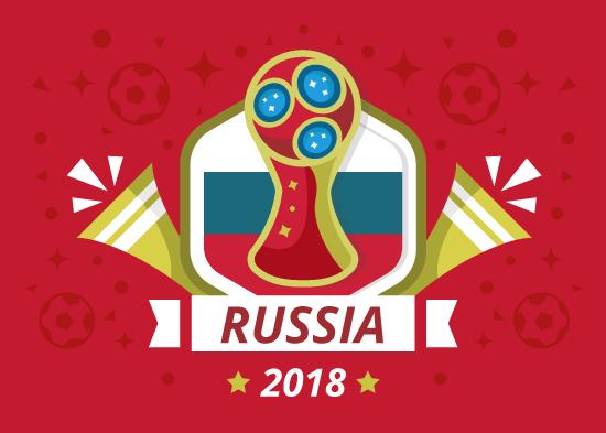 Cartel se Rusia 2018 libre gratuito