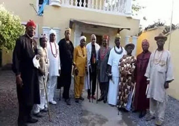 [PHOTOS] Kings from different part of Biafraland storm Umuahia, meet with Nnamdi Kanu