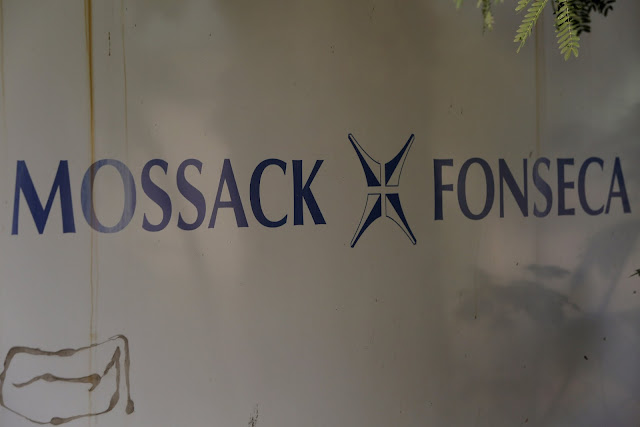 Image Attribute: A Mossack Fonseca law firm logo is pictured in Panama City April 3, 2016. REUTERS/Carlos Jasso