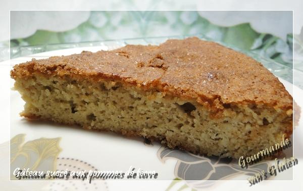 Gâteau sucrée aux pommes de terre sans gluten