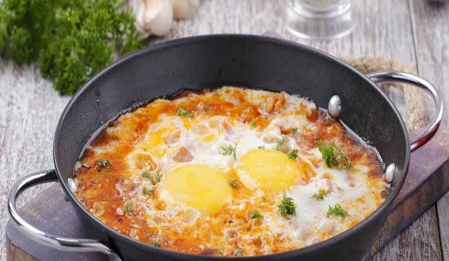 Resep Praktis Membuat Hot plate Telur Saus Pizza Lezat