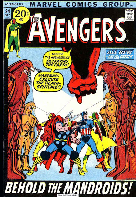 Avengers v1 #94 marvel comic book cover art by Neal Adams