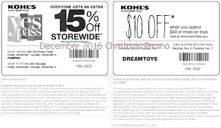 free Kohls coupons december 2016