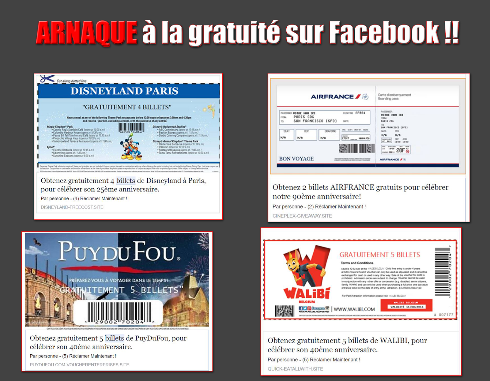 Obtenir coupons facebook