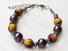 Polymer clay bracelet by WindySunset