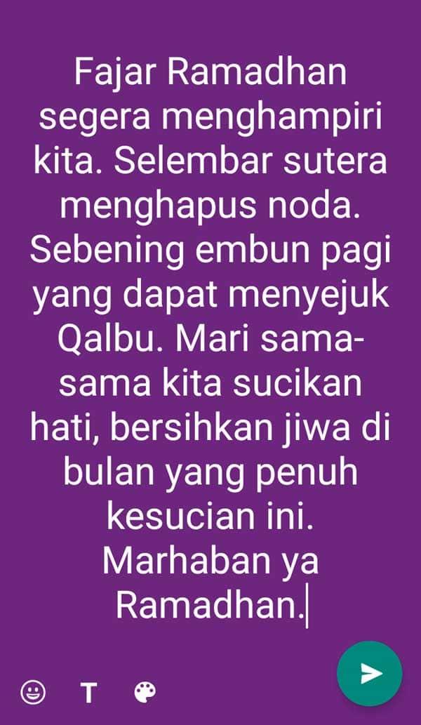 contoh ucapan ramadhan terbaru