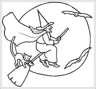 Ausmalbilder von Hexe zum Drucken