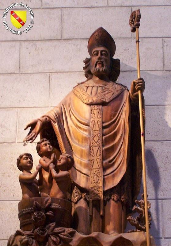 Saint-Nicolas (XXe siècle) - Statue en bois - Basilique de Domrémy-la-Pucelle (88)