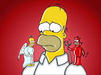 Homer Angel and Devil
