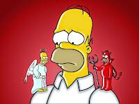 Homer Angel and Devil