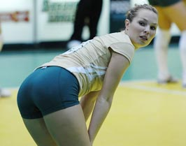 Hot Girls Spandex Volleyball Shorts