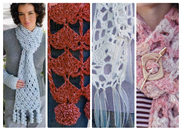 bufandas crochet, design original ganchillo, patrones para crochet