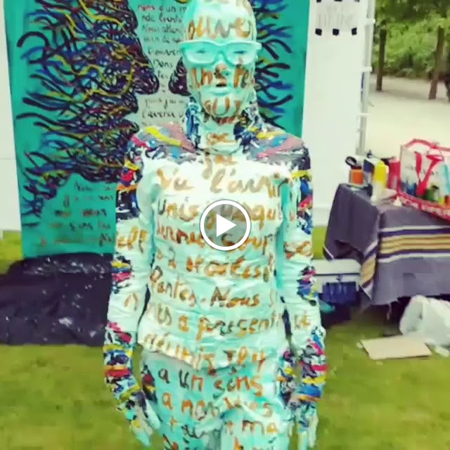 Fête de l'Iris - Peinture - Flesh and Acrylic - Ben Heine Art - Live Performance