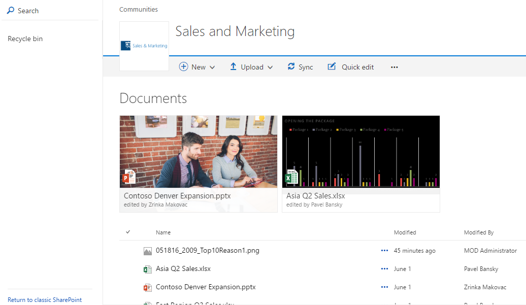 Sharepoint rapt switching between classic and modern for Document library experience