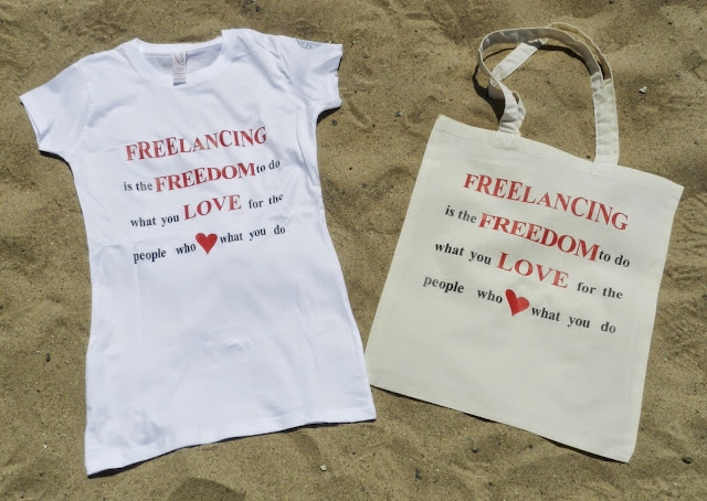 #SpreadTheWordWear Women's Freelancing is Freedom Shirt and Tote
