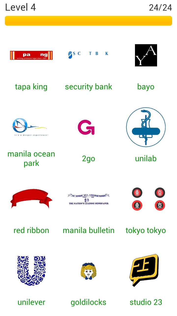 Word Quiz Geek: Logo Quiz Philippines Level 4