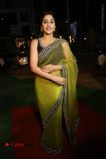 Actress Regina Stills in Green Saree at Vivaha Bhojanambu Restaurant Launch  0144.JPG