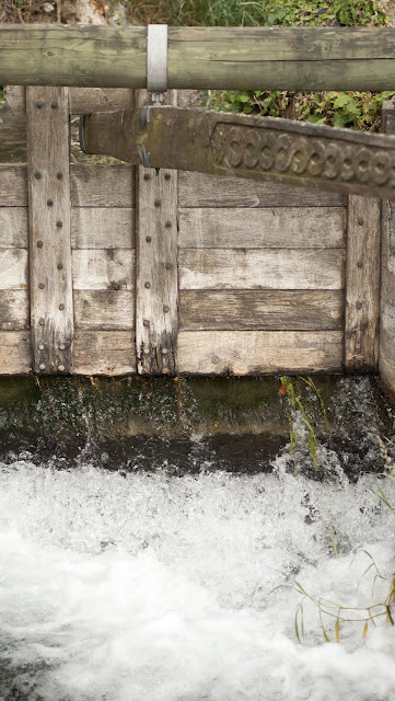 Great places to visit near Zurich for the day by car: sluice gate at Rheinfall