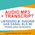 Audio MP3 + Transcript Listening UAS Gasal XII Pemalang 2018/2019