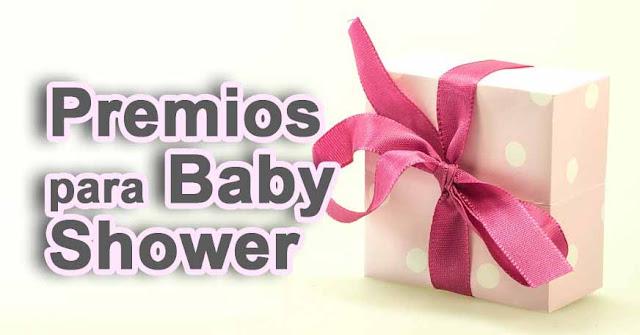 Premios para baby shower sencillos