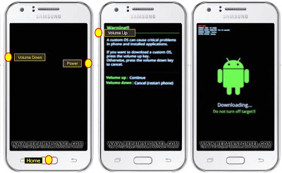 Flash Samsung Galaxy J2 via Odin3 v3.10.7