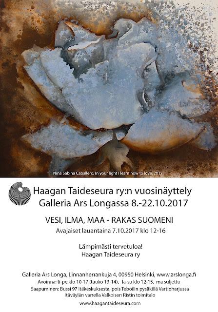 Haagan Taideseura ry:n vuosinäyttely Galleria Ars Longassa 2017