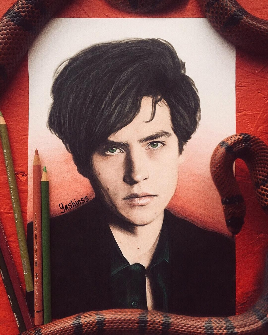 03-Cole-Sprouse-Vlad-Yashin-Realistic-Color-Pencil-Portraits-of-Celebrities-www-designstack-co