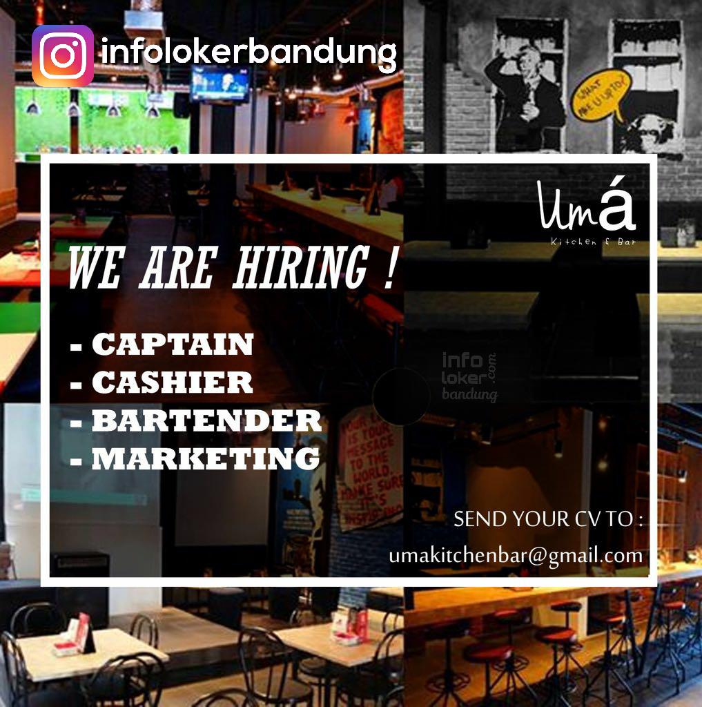 Lowongan KErja Uma Kitchen & Bar Bandung Maret 2017
