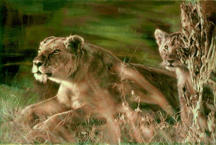 "Animals Paintings By ""Rob Hefferan"" 1968"