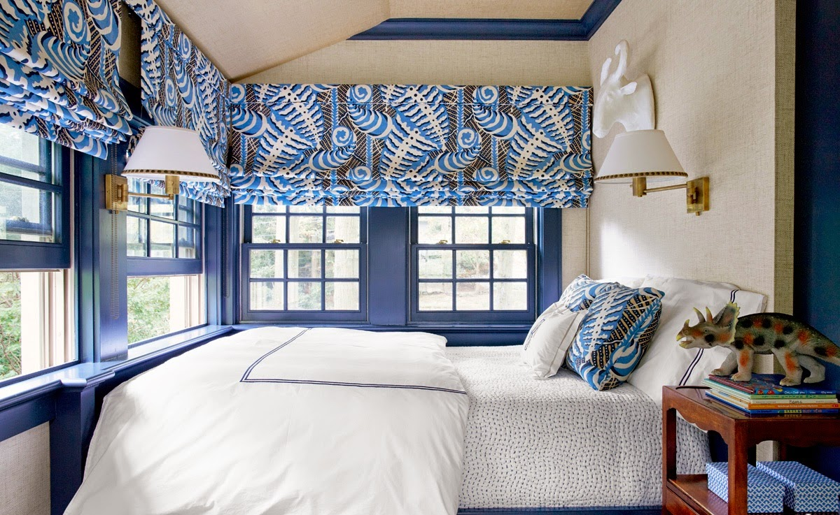 Hogares frescos 10 ideas para ponerle color al dormitorio for Cortinas azules para salon