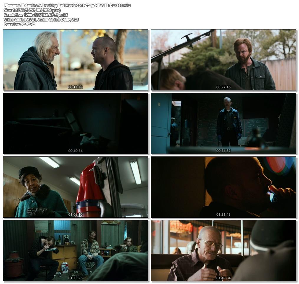 El Camino A Breaking Bad Movie 2019 720p NF WEB-DL x264 | 480p 300MB | 100MB HEVC Screenshot
