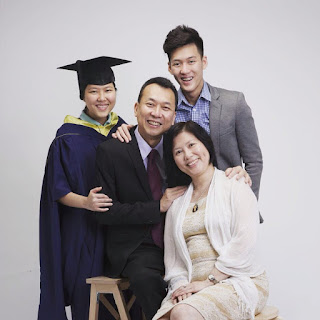 Alaric Ong and his family