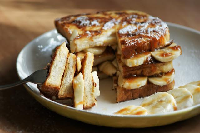 French Toasts mit Banane und Dulce de Leche