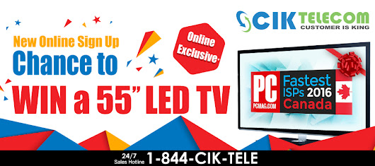 "CIK Online Exclusive: Chance to Win a 55"" LED TV"