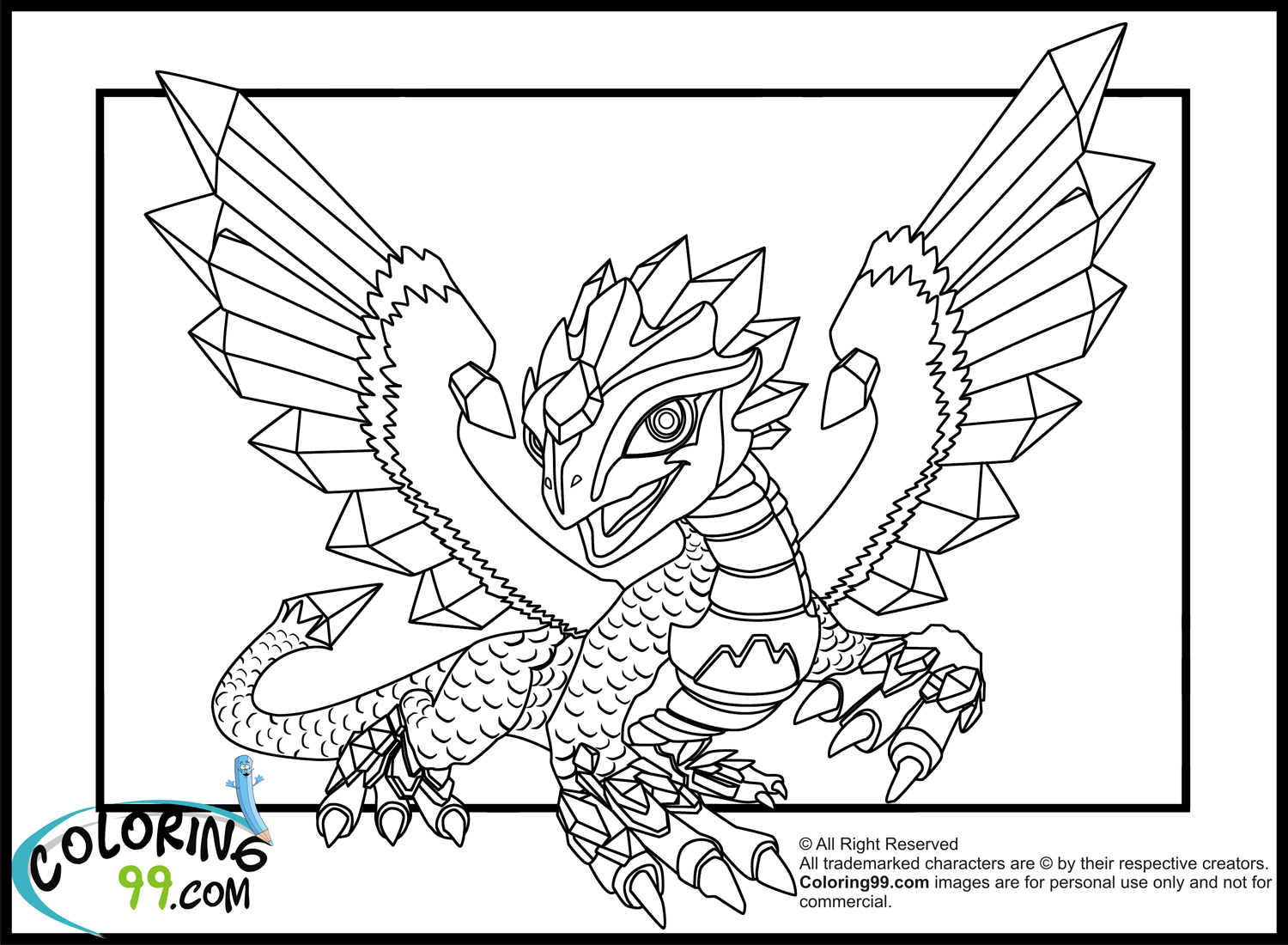 Printable coloring pages and dragons ~ Skylanders Dragons Coloring Pages | Team colors