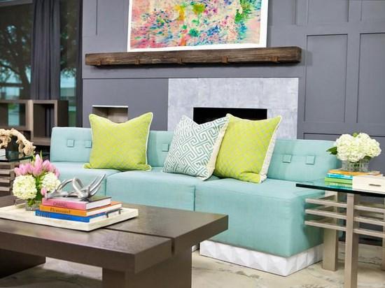 Salas color turquesa y verde colores en casa - Como hacer color turquesa ...