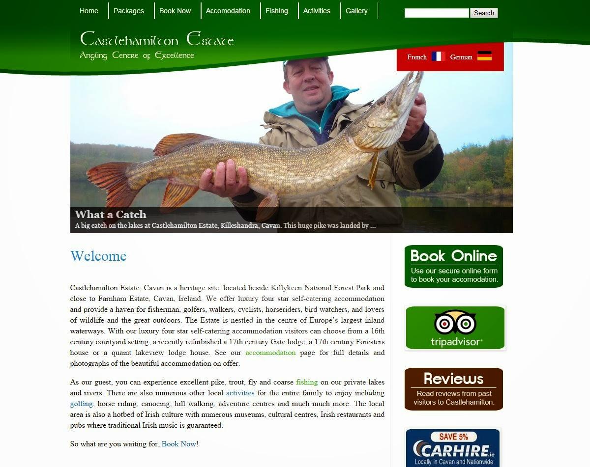 Castlehamilton Cottages Website