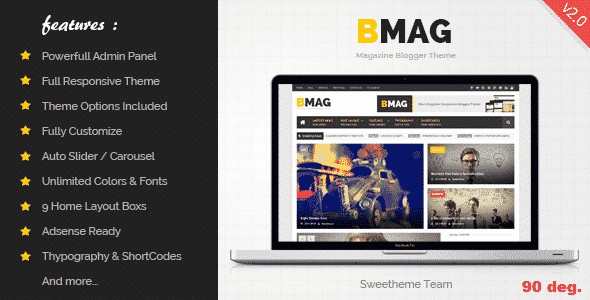 BMAG v1.3 – Magazine Responsive Blogger Template