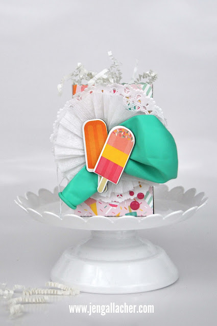 "Die cut ""Birthday Party Favor Bags"" by Jen Gallacher from www.jengallacher.com. #jengallacher #diecutting #birthdayfavor #birthdayparty"