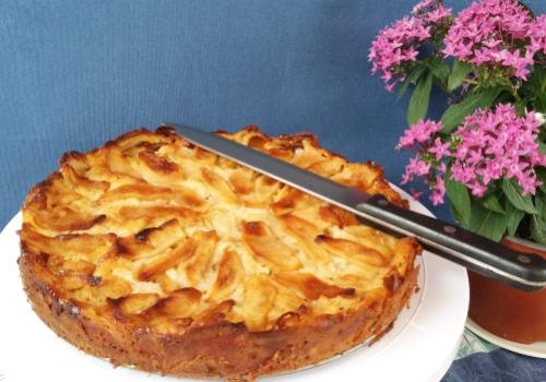 una tarta de manzana
