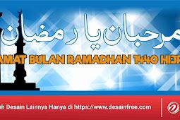 Download Baliho Bulan Suci Ramadhan Tahun 1440 Hijriyah Format CDR
