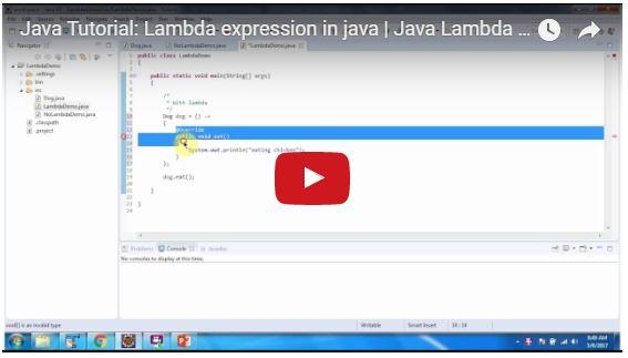 JAVA EE: Java Tutorial: Lambda expression in java   Java